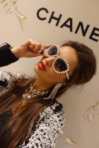 Alina Blinova wearing CHANEL sunglasses